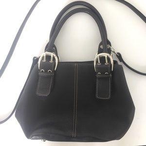 Tignanello || Black leather double handle bag